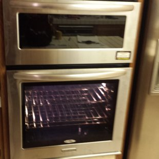 Double oven platform raise about 6inches total cost oven install and platform $200.